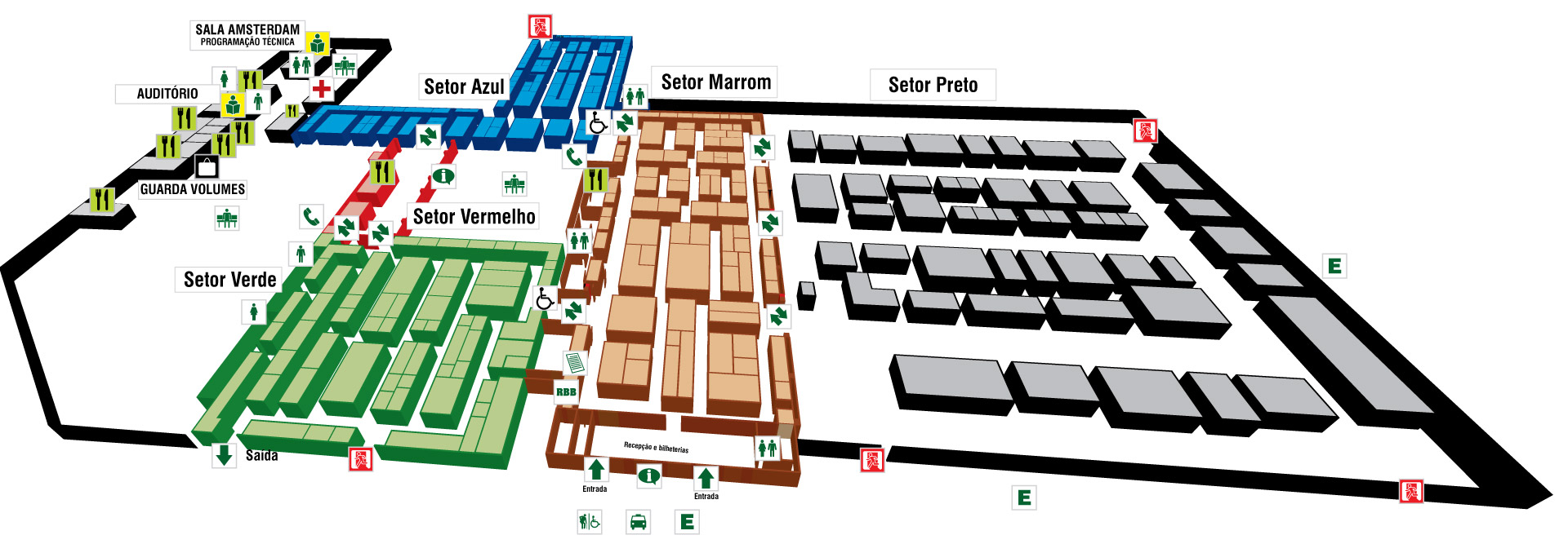 Hortitec Mapa do evento